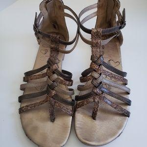 Lollypop Snakeskin Gladiator Sandals